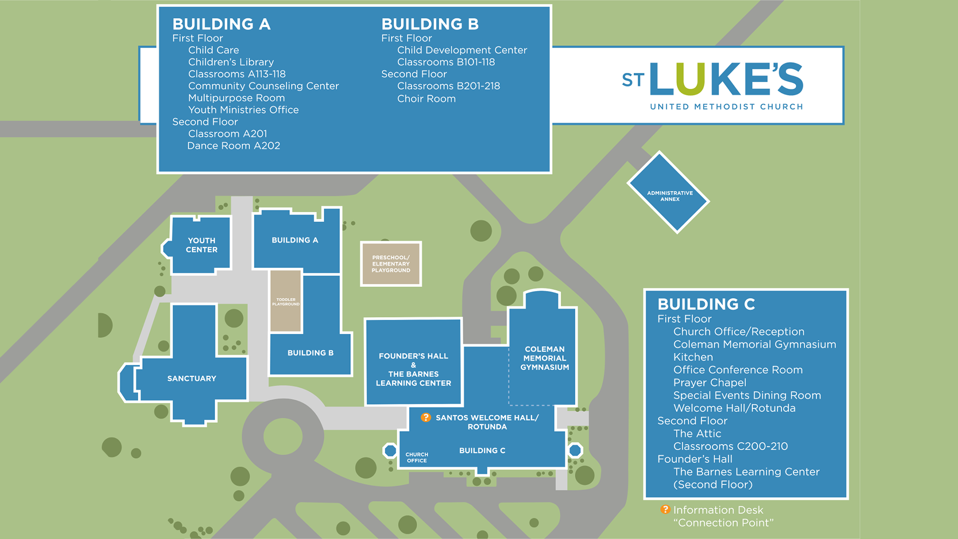 Campus Map : St. Luke's on hope for tomorrow, energy for tomorrow, evangelism for tomorrow, race for tomorrow, animals for tomorrow, mission for tomorrow, church for tomorrow, technology for tomorrow, peace for tomorrow, women for tomorrow, food for tomorrow, freedom for tomorrow, tourism for tomorrow, faith for tomorrow, education for tomorrow, prayer for tomorrow, work for tomorrow,